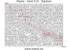 printable hard maze games hard mazes maze fourteen free online maze games for everyone