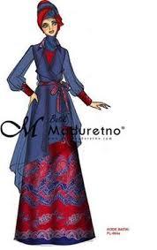 50 gambar model baju batik gamis kombinasi terbaru f