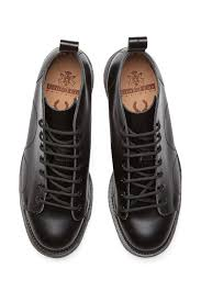 s monkey boots uk fred perry george cox monkey boot black