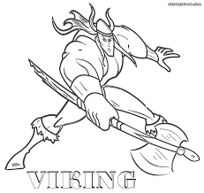 norse mythology childrens simple minion coloring pages printable