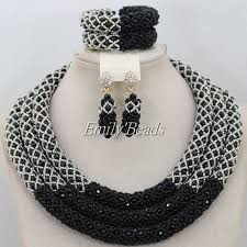 bead jewelry necklace designs images Hot design nigerian wedding necklace jewellery set women costume jpg