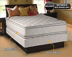 amazon com dream solutions pillow top mattress and box spring set