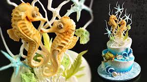 seahorse cake topper underwater cake with seahorse topper yeners way