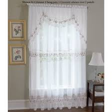 Grommet Curtains For Sliding Glass Doors Vintage Embroidered Macrame Semi Sheer Window Treatment