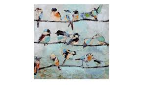 518 Best Painting Canvas Ideas by Amazon Com Gift Craft Stretched Canvas Print Birds On Wire