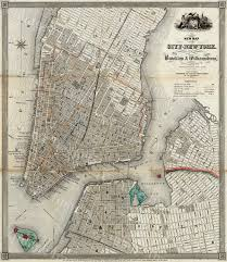 Manhattan New York Map by 1840 Old Map Of New York City Vintage Manhattan Map Brooklyn