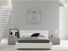 Bedroom Wall Decals Etsy Wall Art Inspired By Da Vinci Vitruvian Man Vinyl Wall Decal