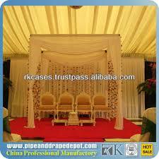 Wedding Mandap For Sale Rk Fiber Wedding Mandap Decoration With Colorful Drapery For Sale