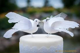 dove cake topper lovey dove wedding cake topper and groom bird