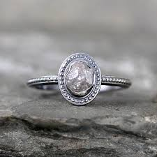 Vintage Style Wedding Rings by Uncut Diamond Ring Raw Rough Diamond Engagement Rings Sterling