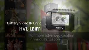 sony hvl le1 handycam camcorder light sony 2 5 watt camcorder video light hvl leir1 youtube