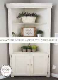 diy furniture 7 u0027 anna white corner cabinet nik nak shack