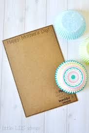 mother u0027s day cupcake liner flower card