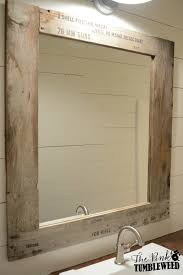 Reclaimed Wood Bathroom Mirror Rustic Mirror Made From Grey Reclaimed Wood Mirrors Intended