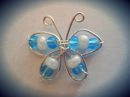tiny blue and white wire butterfly jewelry éxerek pinterest
