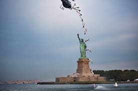75 foot dive into the waters of statue of liberty