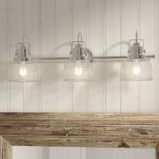 chrome vanity light bar chrome vanity lights you ll love wayfair