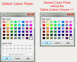 remove custom colors from color picker vb net