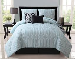 White And Teal Comforter Clearance 5pc Luxury Katelyn Black White Teal Reversible