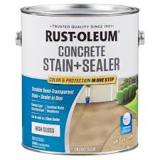 rust oleum 1 gal clear low gloss concrete sealer tintable 310428