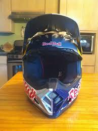 redbull motocross helmet 2011 bell helmet m9 red bull painted lance coury
