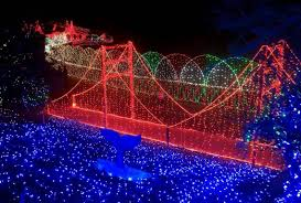 Holiday Brilliant Spectacular Light Show by Cambria Christmas Market U0027s Light Show Takes All Year To Produce