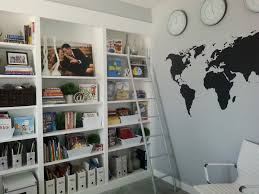 Modern Home Library Interior Design Awesome Apartment Home Library Design With White Leather Ideas