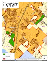 Austin City Limits Map by 2016 Annexations City Of Kyle Texas Official Website