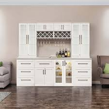 cabinets costco home wine bar 9 piece cabinetry set by newage products