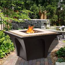 Wood Firepits Sunjoy Revel Aluminum Steel Wood Burning Pit Table Reviews