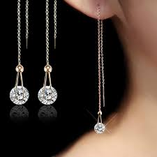 earrings image ustar water drop earrings for women 2 0ct aaa cut cubic