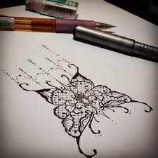 untitled u2014 sketching a little lace butterfly tattoo
