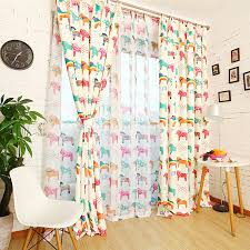 Fabric For Nursery Curtains Inspiring Colorful Patterned Curtains Decor With Colorful Polka