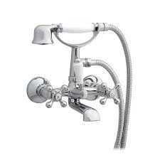 enki traditional cross handle bath filler mixer taps shower wall