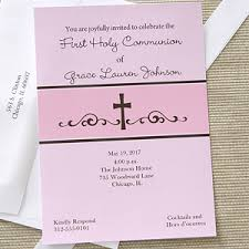 communion invitations precious prayers personalized girl s communion invitations