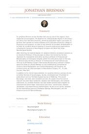 Psychiatrist Resume Neurosurgeon Resume Samples Visualcv Resume Samples Database