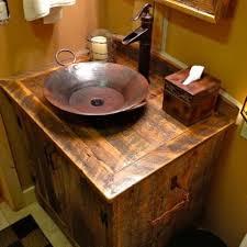 interesting rustic bathroom vanity with vessel sink photos best