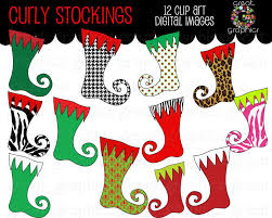 Stocking Designs by Christmas Clipart Christmas Stocking Clip Art Digital Christmas