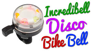 incredibell disco bell a bicycle bell that lights up