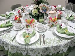 astounding design party table setting ideas with round shape and