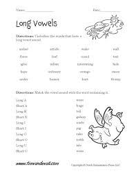 free long vowel worksheets langugae arts printables