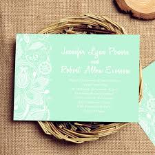 inexpensive mint green printed lace wedding invites ewi333 as low