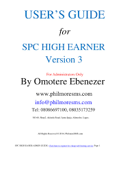 spc high earner user u0027s guide
