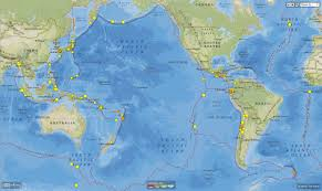 Earthquake World Map by The Japanese And Ecuador Earthquakes Related