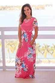 pink floral maxi dress with short sleeves maxi dresses u2013 saved