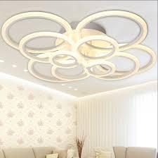 Flush Mount Bedroom Ceiling Lights White Modern Acrylic Led Ceiling Light Fixture Ring Lustre Large