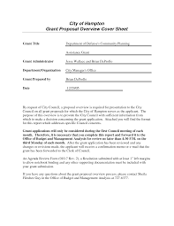 grant cover letter example cover letter page sample grant