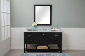4 Bathroom Vanity Espresso Shaker 60 Bathroom Vanity 4 Drawers 1 Sink Open Shelf W