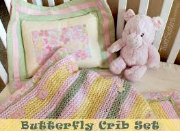 baby crib bedding with butterfly theme two sisters