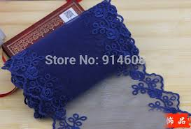 navy blue lace ribbon online shop high quality vintage style embroidered lace trim